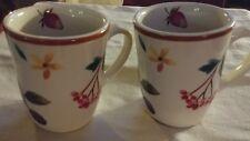 Longaberger Pottery 2 Berry Coffee Tea Cider Cups Mugs