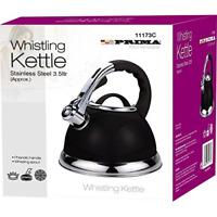 Prima Black Cordless 3.5L Stainless Steel Whistling Kettle 1469
