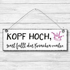 KOPF HOCH Dekoschild Holz Wand Tür Schild Shabby Chic Geschenk Vintage Landhaus