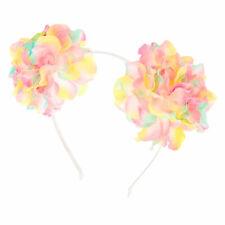 Claires Girls Rainbow Sequin Pastel Pom Headband