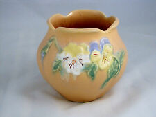 """Weller Pottery Panela Vase or Bowl in Yellow, 4 1/4"""" tall"""