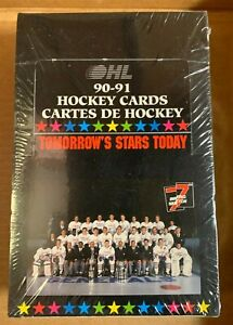 1990-91 7th Inning Sketch OHL Hockey Cards Factory Sealed Box 36 Packs