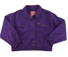 Woman's Caster World of Jeans Jacket Purple Denim Coat Button Size Unknown 33
