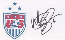 Whitney Engen 2015 Usa Women's World Cup Fifa Gold Medal Signed 3x5 Card