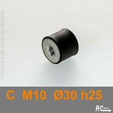 Schwingungsdämpfer Typ C  M10   Ø 30 / H 25  Metallpuffer   Anti Vibration Mount
