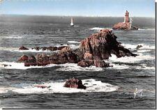 TARJETA POSTAL- - PUNTA DEL RAZ - El Faro de la Vieja, a ahora, L' Isla de Mama