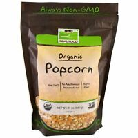 Now Foods  Organic POPCORN - 25 oz, 1.5 lbs (680 g) Non-GMO, VEGAN, HIGH FIBER