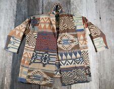 Ralph Lauren Hand Knit Wool Sweater Cardigan Pioneer Navajo Blanket Motif 2X