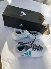 Adidas Women's cleats Techfit W Soccer shoes White with Turquoise with laces