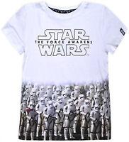 Boys Star Wars T-shirt Kids Short Sleeve 100% Cotton Disney Top Ages 1.5-8 Years