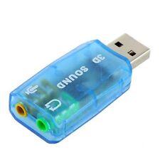 3D Sound External USB Adapter 5.1 USB To 3.5mm Mic Headphone Jack