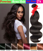 Body Wave Peruvian Virgin Human Hair Wavy 1 or 3 bundles