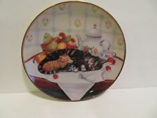 Franklin Mint Cat Nap Plate by Turi MacCombie 1991 limited y7865 8 1/2 inch