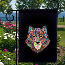 New listing Wolf Mosaic New Small Garden Yard Flag Banner Decor Gifts Events