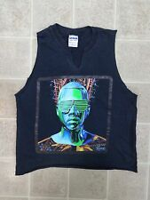 KAYNE WEST Glow In The Dark Tour T-SHIRT Mens Small 2-Sided With Cities Dates SM