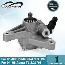 Power Steering Pump Fits 2004-2008 Acura 3.2L TL 05-08 Honda Pilot 3.5L V6 Auto