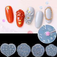 3D nail art diy silicone flower daisy template mold manicure sculpture mold HU