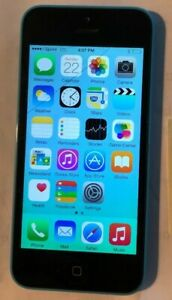 Apple iPhone 5c 16GB Blue (Sprint) A1456 Fast Ship Good Used Small Crack