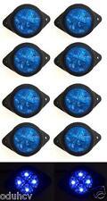10x 12V 4 LED Lights Blue Side Marker Truck Lorry Tipper Van for Iveco Ford MAN