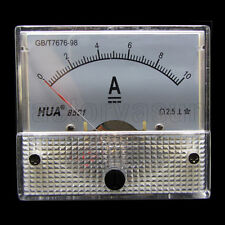 DC 10A Analog Panel AMP Current Meter Ammeter Gauge 85C1 0-10A DC White