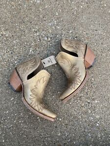Ariat Dixon Distressed Gold Boots Size 9 Women's Ankle Bootie