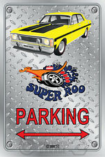 Parking Sign Metal - Ford XW GT 351 Super Roo - shell yellow