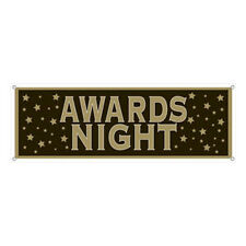 Black & Gold Star Banner suit Hollywood Awards Party HUGE