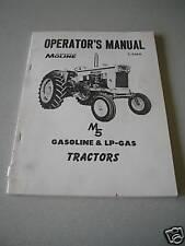 Minneapolis Moline M5 Tractor Operator's Manual