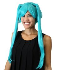 Adult Green Straight Wig Synthetic Hair for Cosplay Hatsune Miku Costume HW-1381