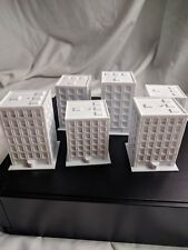 Monsterpocalypse Apartment Buildings Set 6 with Base 3D Printed Paintable