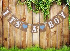 "Girland Banner ""IT'S A boy ""Partydeko Geburt Taufe Junge Babyparty Fest"