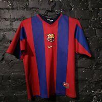 Rivaldo Barcelona Jersey Home football shirt 1998 - 1999 Nike Size Young L