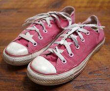 Distressed Trashed CONVERSE All Star Pink Low Top Sneakers Shoes 5 35 Womens
