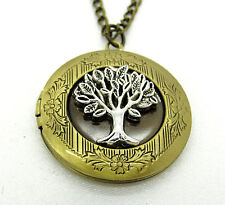 Bronze Tree of Life Locket Pendant Necklace Photo Love Family Gift