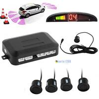 4 Parking Sensors LED Display Car Auto Backup Reverse Radar System Alarm Kit WT