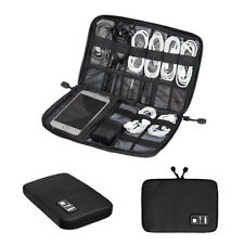 Black Storage Organizer Bag Case Digital USB Cable Earphone Travel Insert