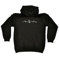 Rock Climbing Kids Childrens Hoodie Hoody Funny - Rock Climbing Pulse