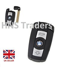 for BMW 1 3 5 6 7 Series E90 E92 E93 - 3 Button Remote Key Fob Case Smart Key