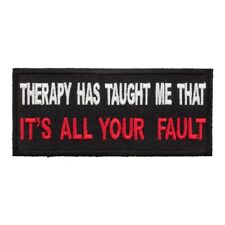 Therapy Has Taught Me Patch, Funny Patches