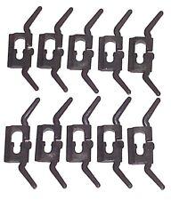 NOS GM Body Side Belt Fender Quarter Soft Vinyl Top Molding Trim Clips 10pcs AV