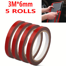 5 Rolls 3m*6mm Automotive Car Truck Acrylic Plus Double Sided Attachment Tape US