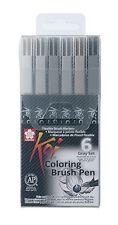 Sakura Koi Coloring Brush Pen Set Of 6