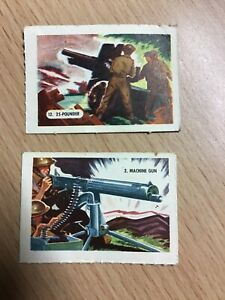 Kelloggs Trading Cards - 2 From Firearms Series Of 15