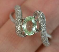 Paraiba Tourmaline and Diamond 18ct White Gold Ring d0385