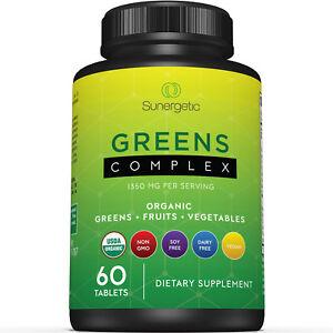 USDA Organic Greens Superfood Tablets-Includes Greens, Fruits & Veggies