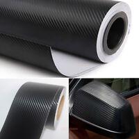 30x150cm Hot Car 3D Carbon Fiber Texture Grain Vinyl Wrap Sticker Decal Black KW