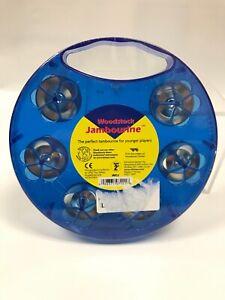 "Woodstock Jambourine Blue Plastic 7"" Diameter"