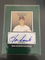 2005 Upper Deck Old Judge Signatures Ron Santo On Card Autograph Chicago Cub HOF