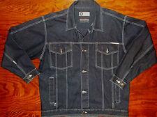 Denim Jean Jacket Mens LARGE SouthPole Blue Trucker Coat Cotton 4D83