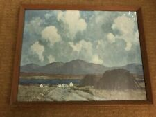 Large Irish landscape print by Paul Henry.